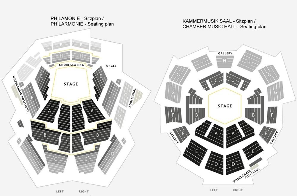 Схема залов Берлинской филармонии