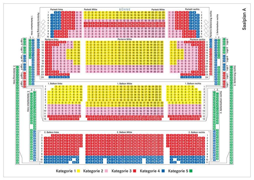 Театрально-концертный зал Фестшпильхаус - схема зала