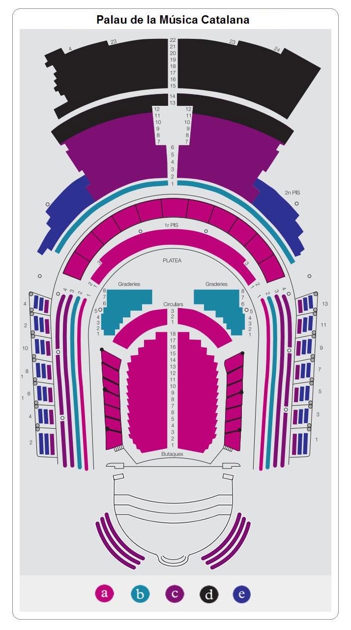 Схема зала Дворца каталонской музыки