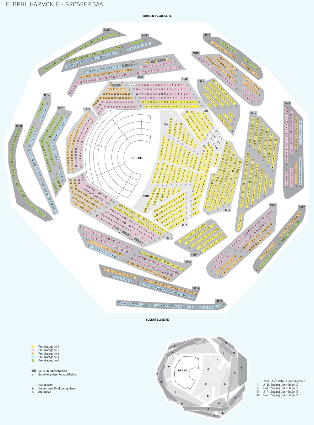 Эльбская филармония / Elbphilharmonie схема зала