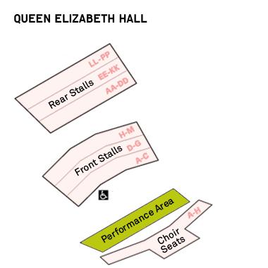 Саутбэнк-центр - схема Зала королевы Елизаветы