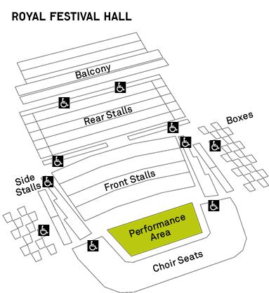 Саутбэнк-центр - схема Королевского фестивального зала