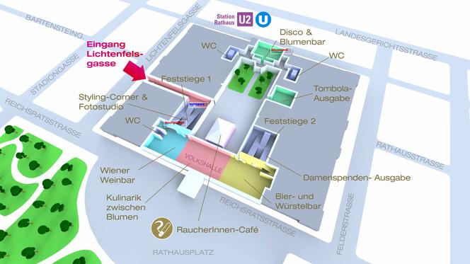 Цветочный бал / Blumenball der Wiener Stadtgärten