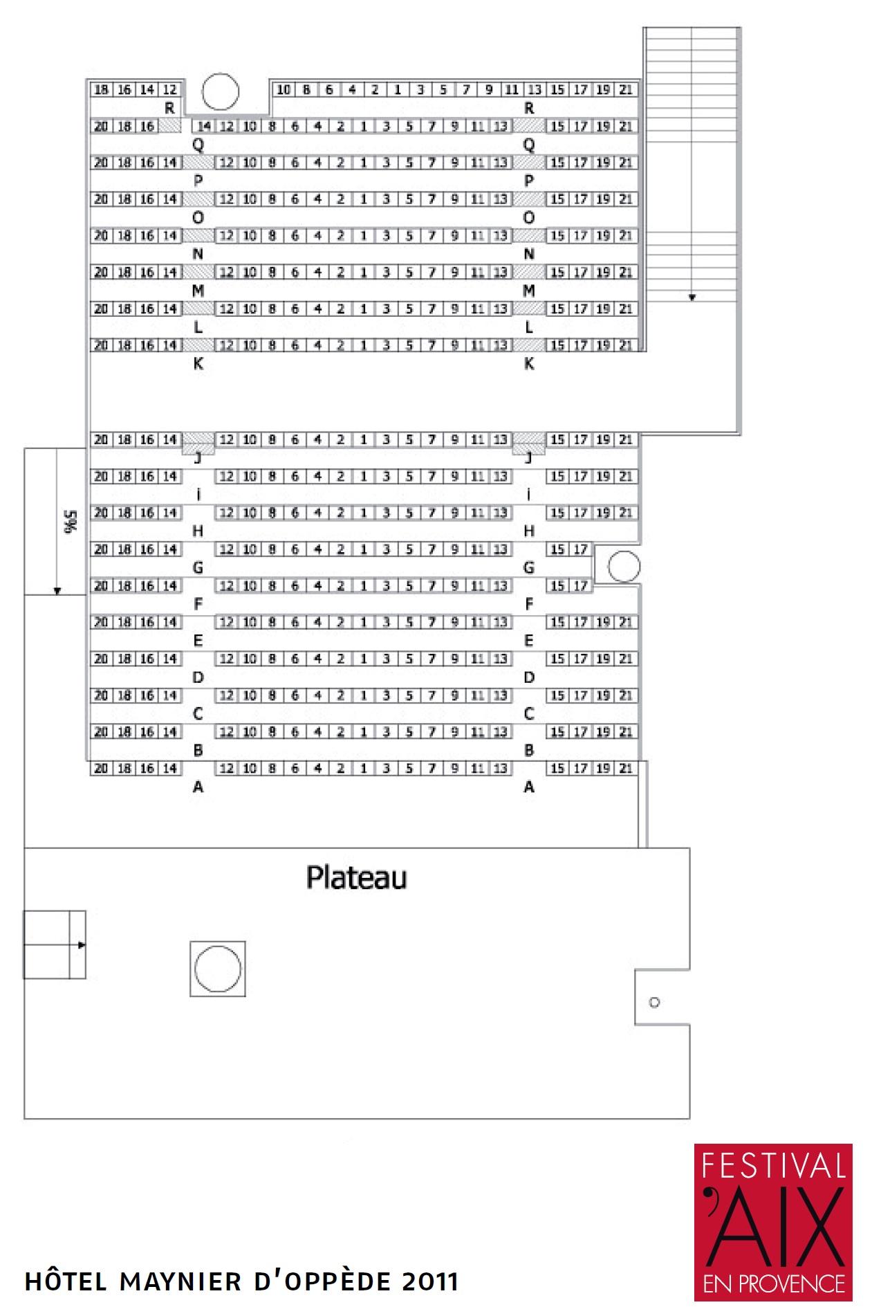 Экс-ан-Прованский оперный фестиваль. Схема HÔTEL MAYNIER D'OPPÈDE