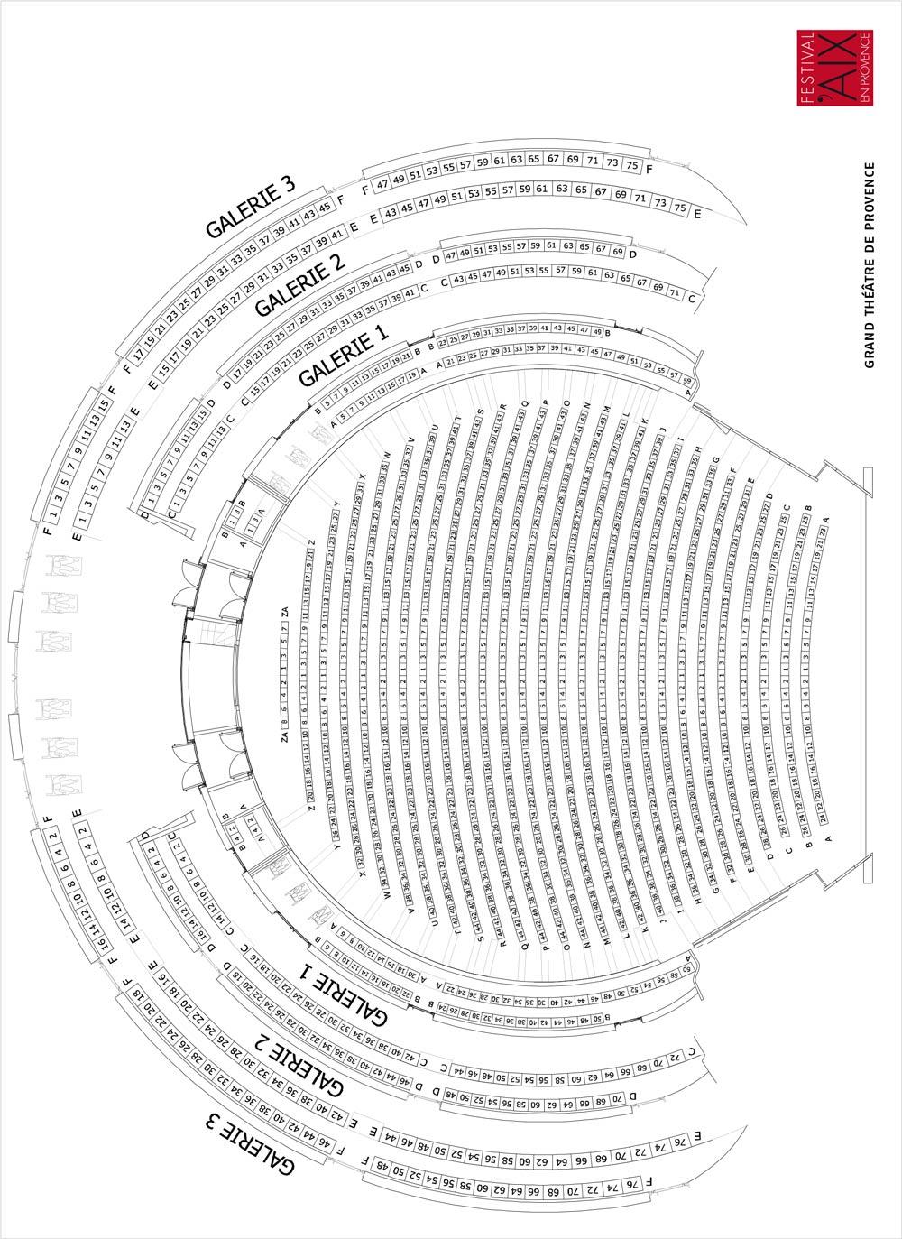 Экс-ан-Прованский оперный фестиваль. Схема Большого Провансальского театра (Grand Théâtre de Provence)