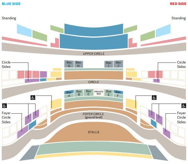 Схема зала Глайндборнского фестиваля