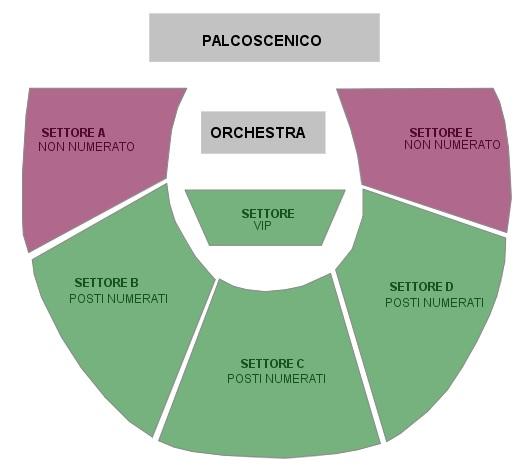 Фестиваль в Помпеи - схема зала Большого театра Помпеи