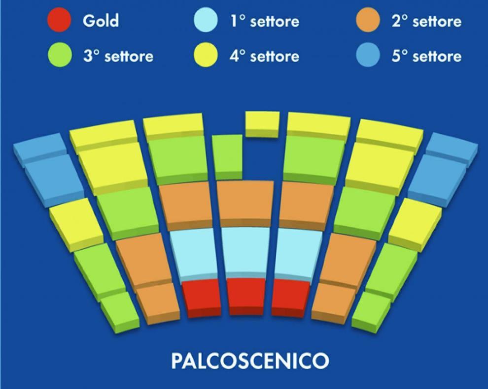 Схема зала фестиваля Пуччини
