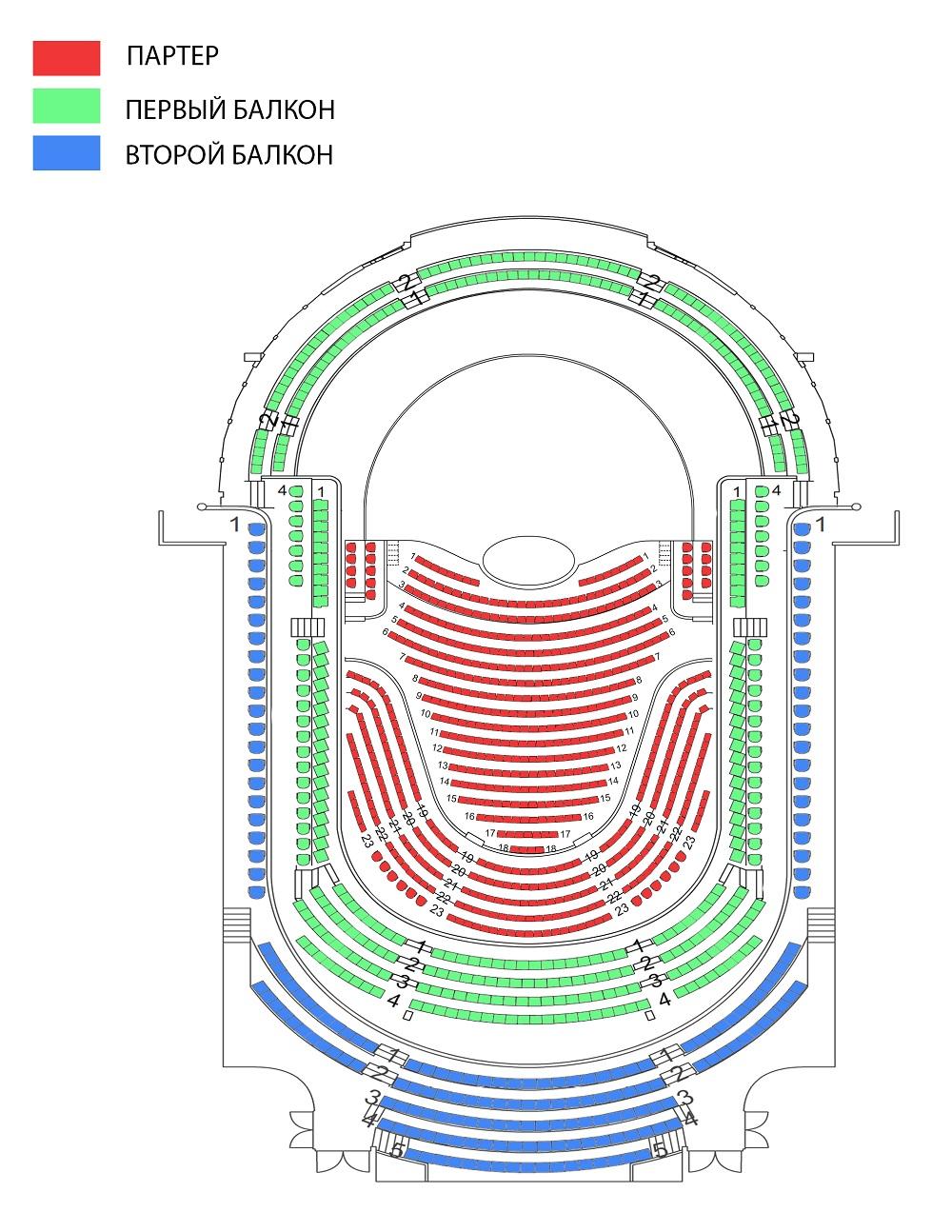 Фестиваль Сибелиуса в Лахти. Схема зала Sibelius Hall