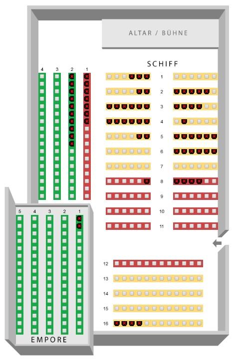 Схемы залов Фестиваля Менухина. Театр Château-d'Œx