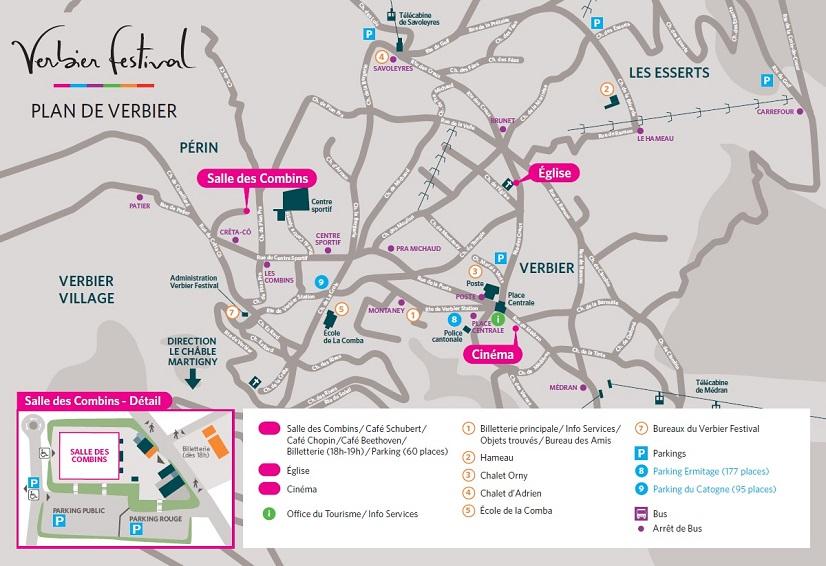 Расположения площадок Фестиваля в Вербье