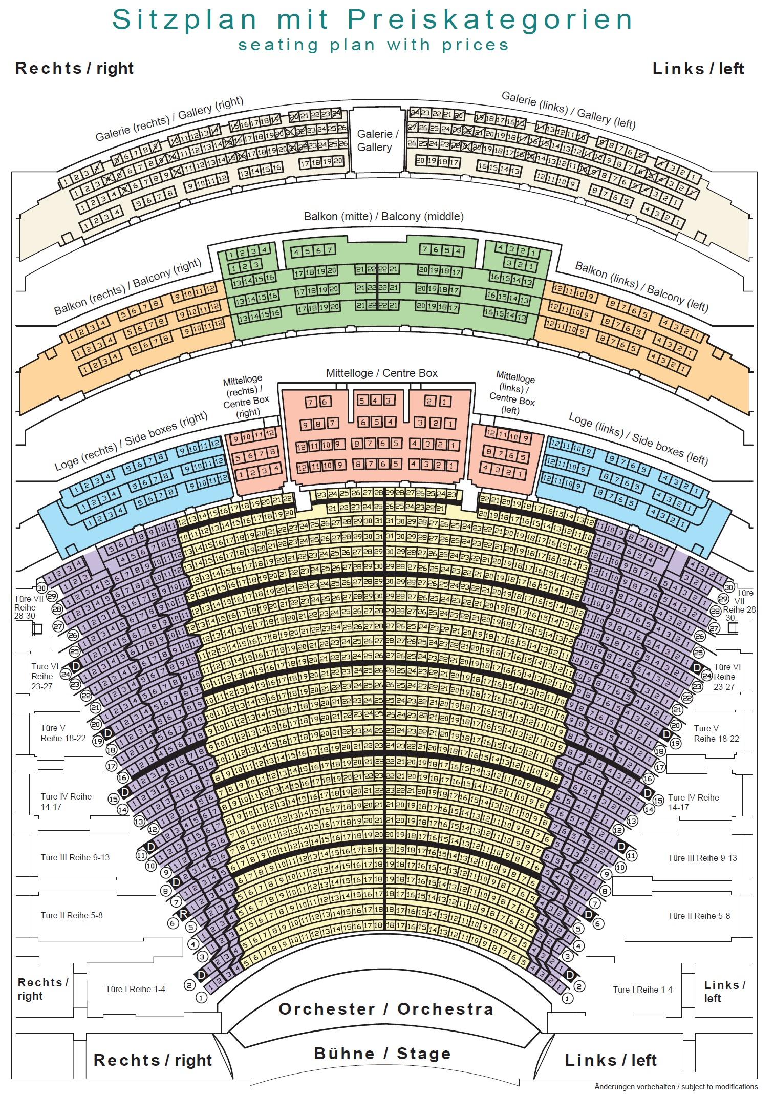 Схема зала Байройтского фестиваля