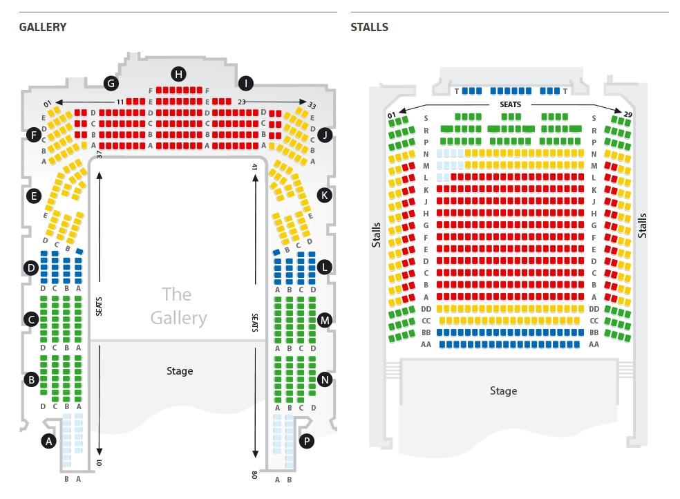 Схемы залов фестиваля Би-Би-Си Промс - Cadogan Hall
