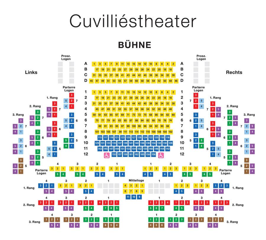 Мюнхенский оперный фестиваль. Схема зала старого Резиденц-театра