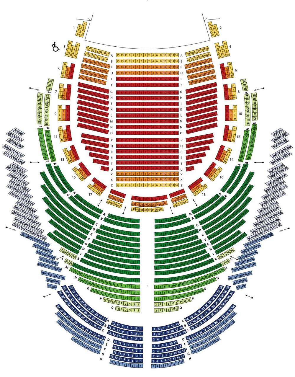 Схема зала Флорентийской оперы - Музыкальный май