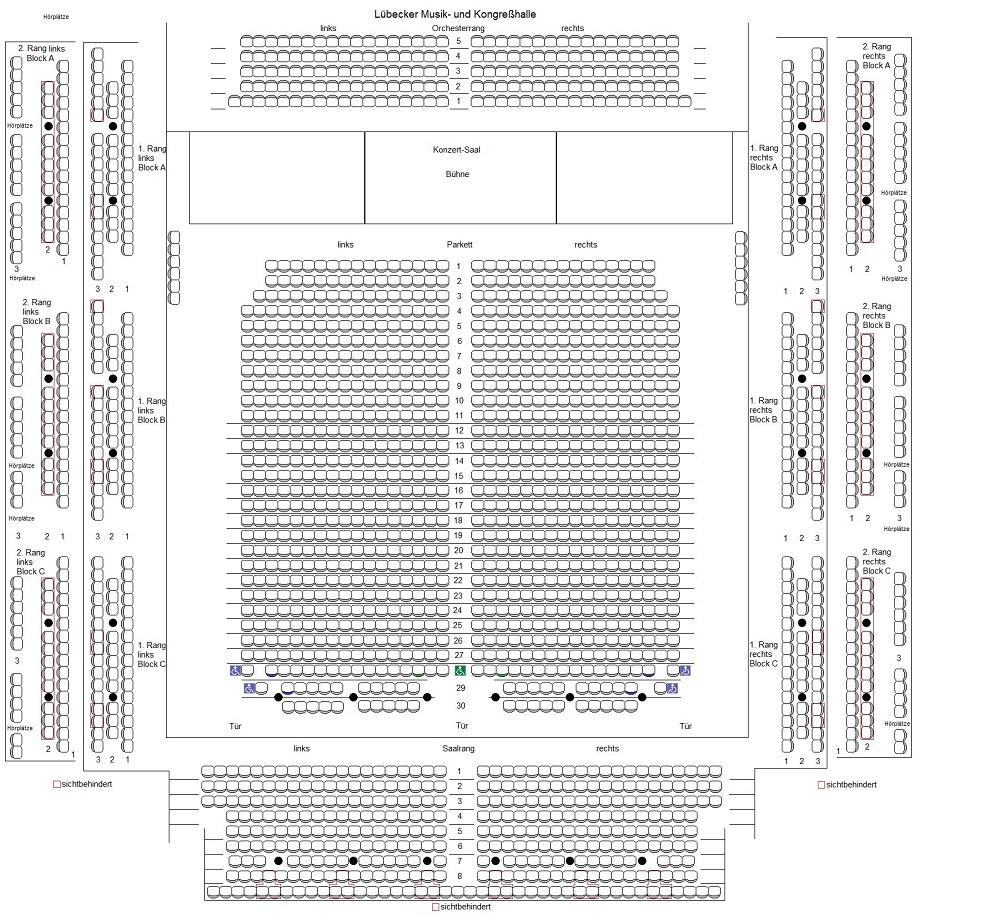 Схема зала концертов и конгрессов