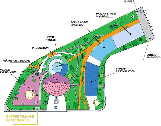 Схема места проведения Джазового фестиваля в Ницце