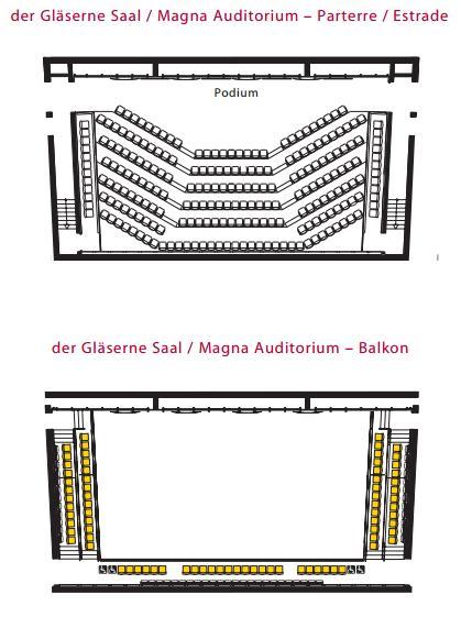 Стеклянный зал Венской филармонии - схема
