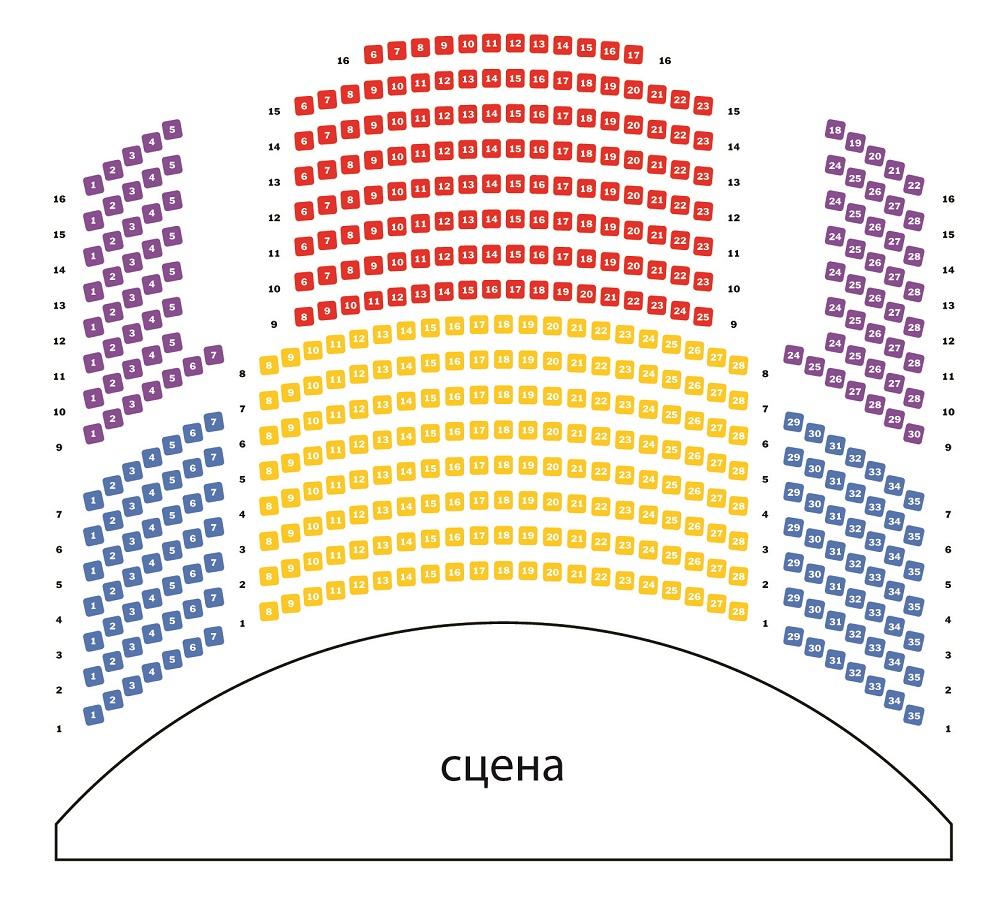 Московская государственная академическая филармония - Концертный зал «Оркестрион» - схема зала