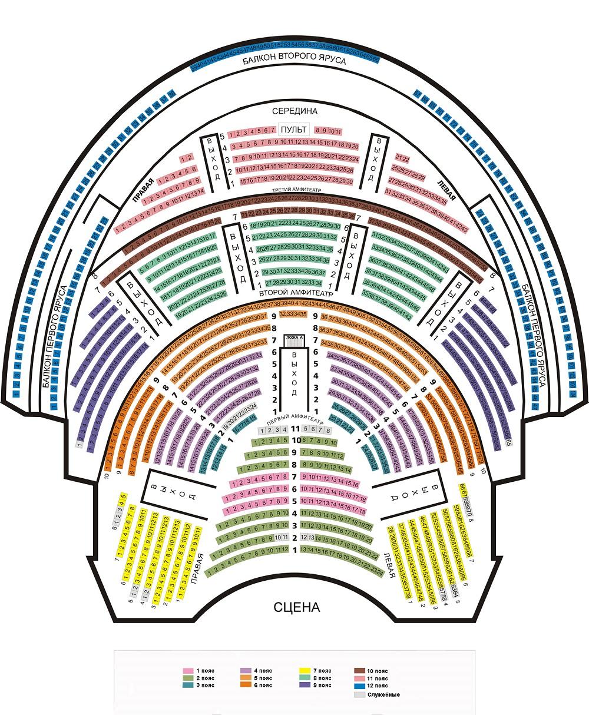 Московская государственная академическая филармония - Концертный зал имени П. И. Чайковского - схема зала