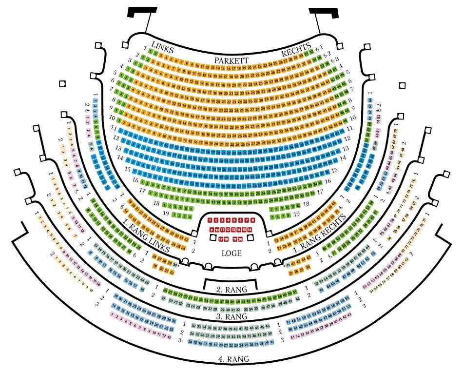 Схема зала Дрезденской государственной оперы