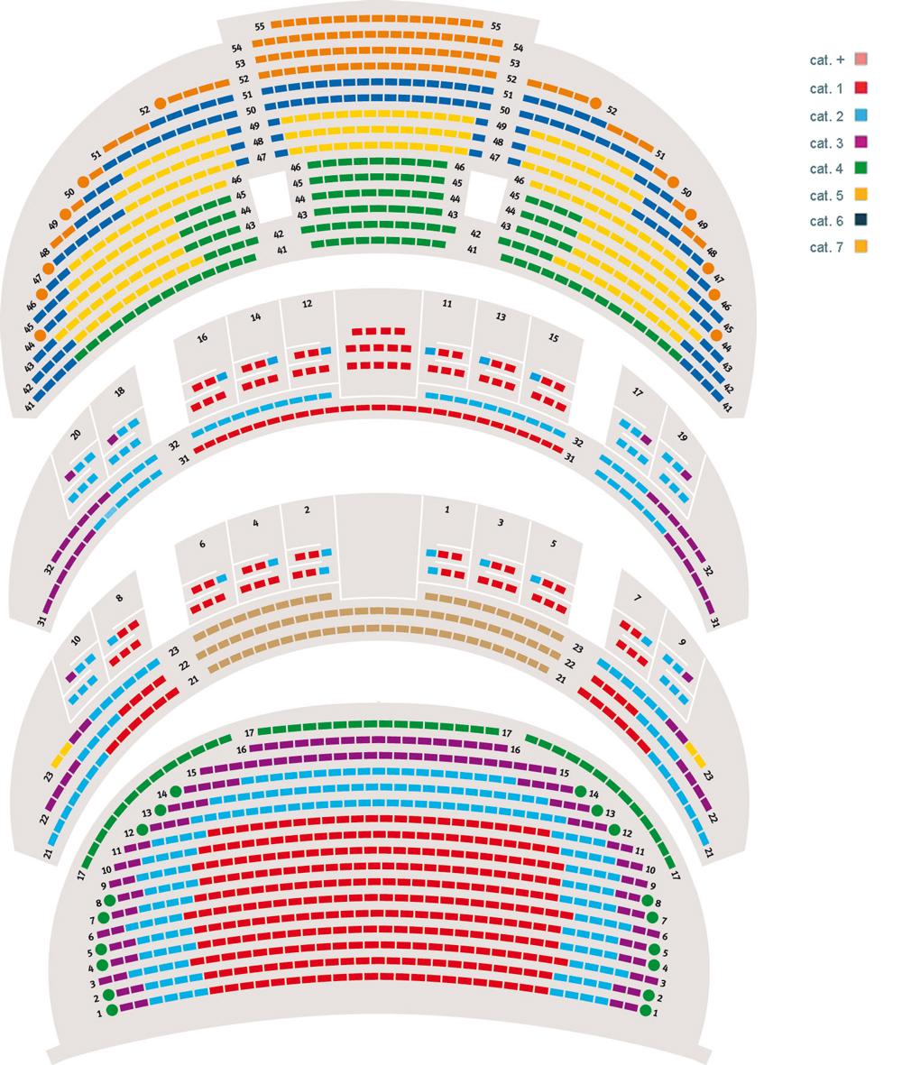 Схема зала Женевского Большого театра