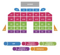Схема концертного зала Messe Congress Graz Betriebsgesellschaft