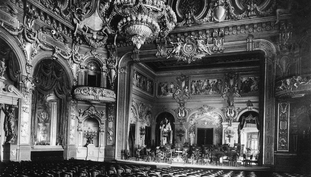 Интерьер театра казино Монте-Карло 1878-79гг.
