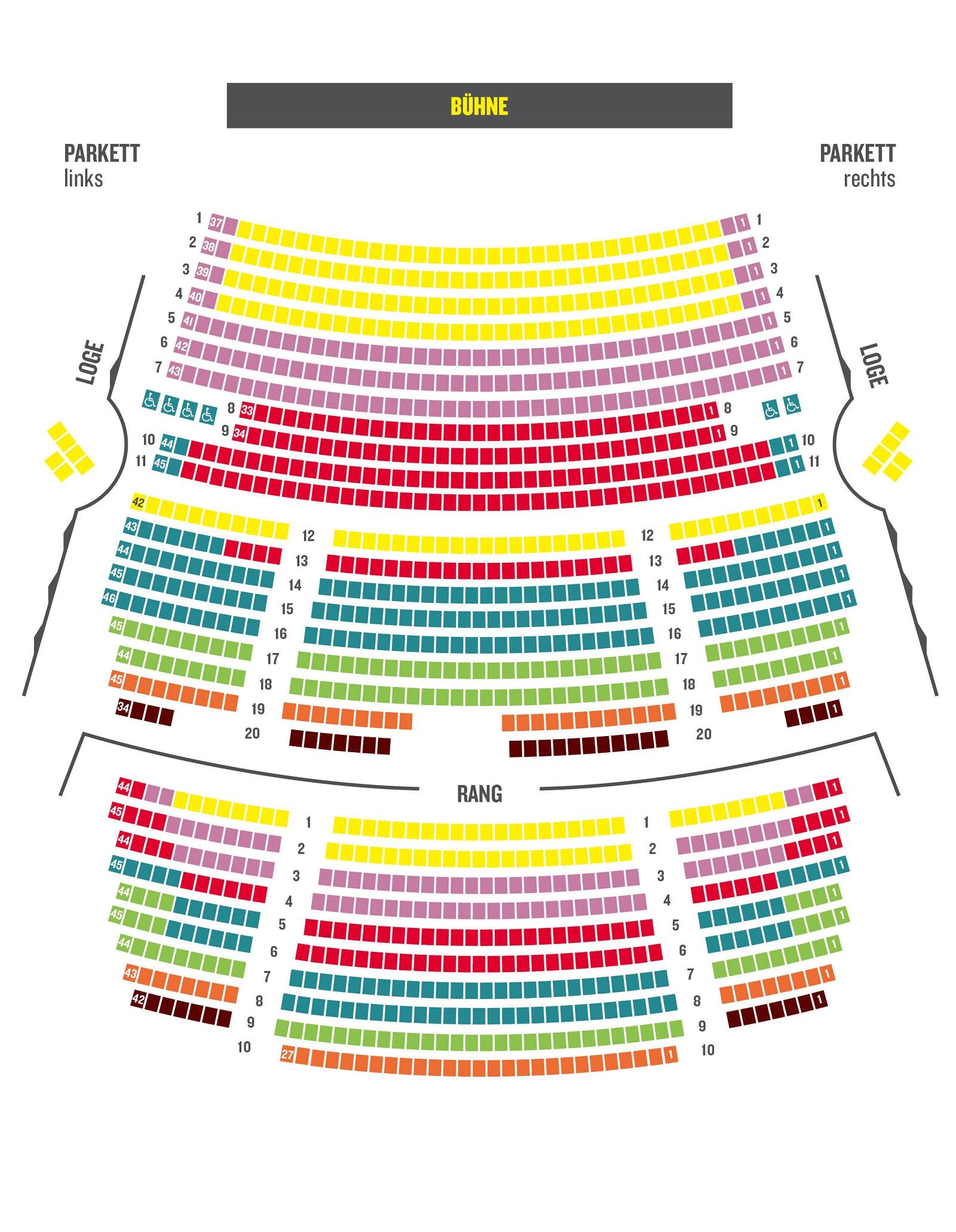 Схема зала Лейпцигской оперы