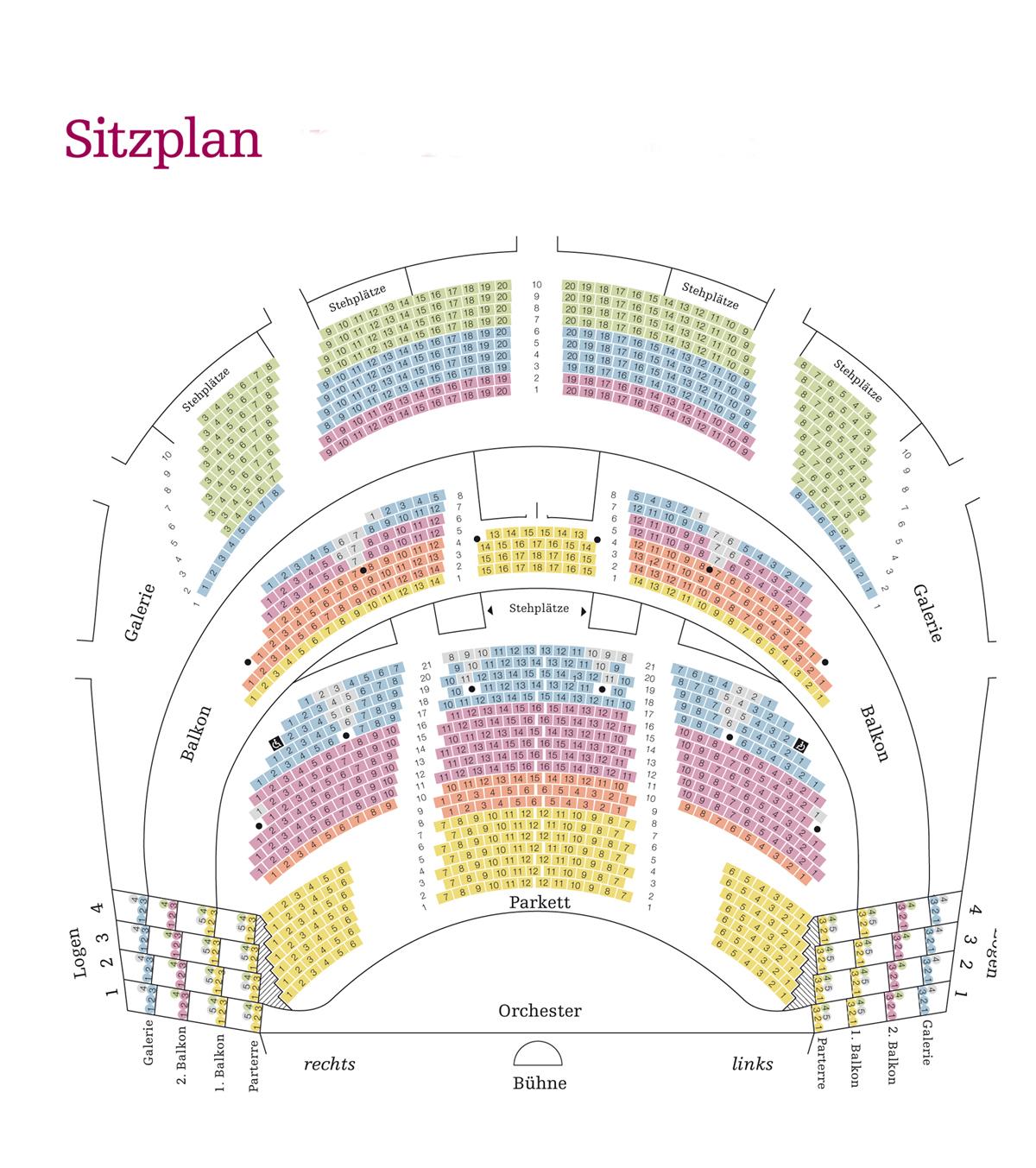Схема зала Венской Оперетты