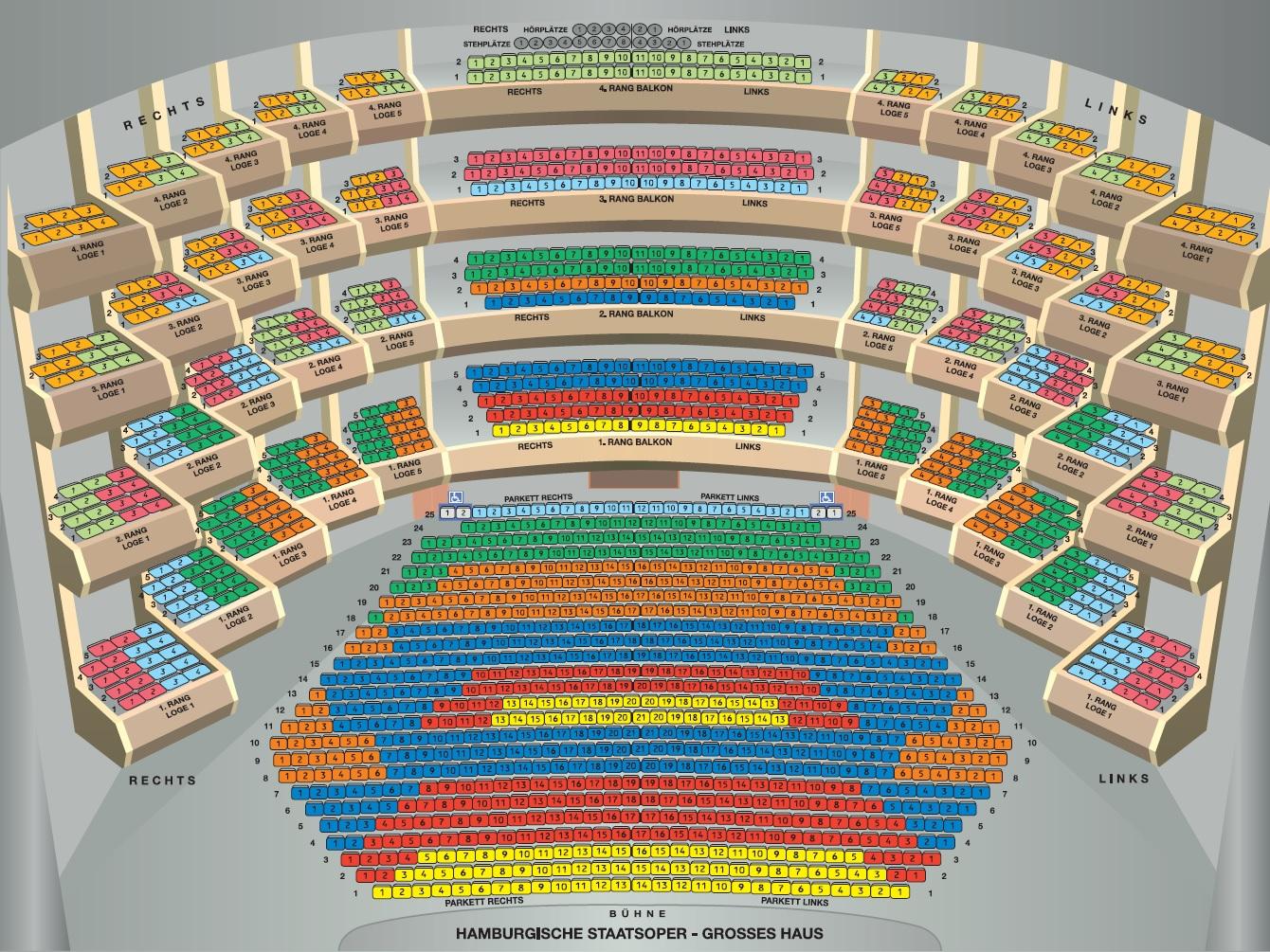 Схема зала Гамбургской государственной оперы