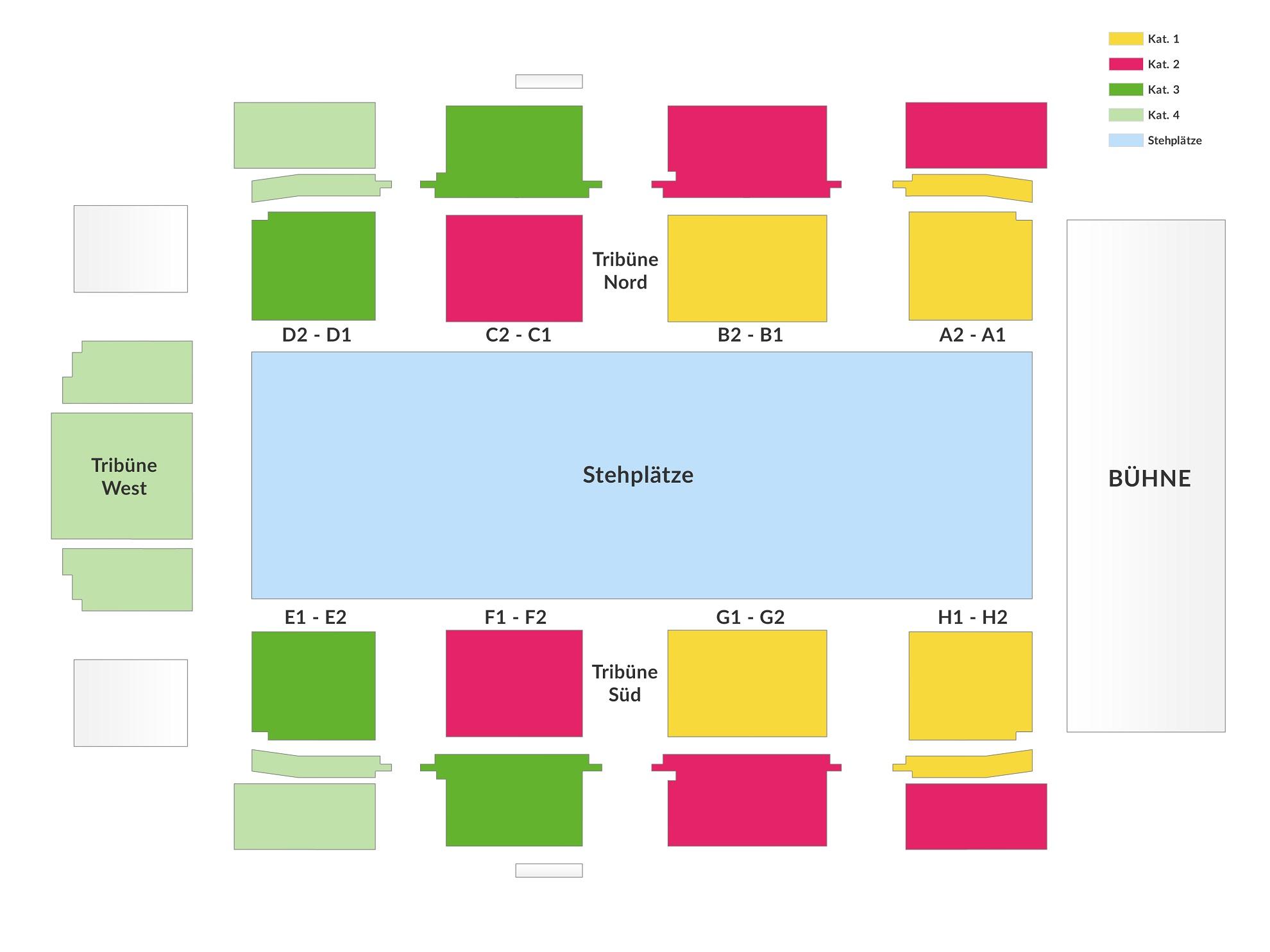 Схема концертного зала TipsArena