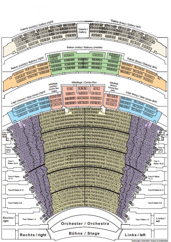 Схема зала Байрейтского