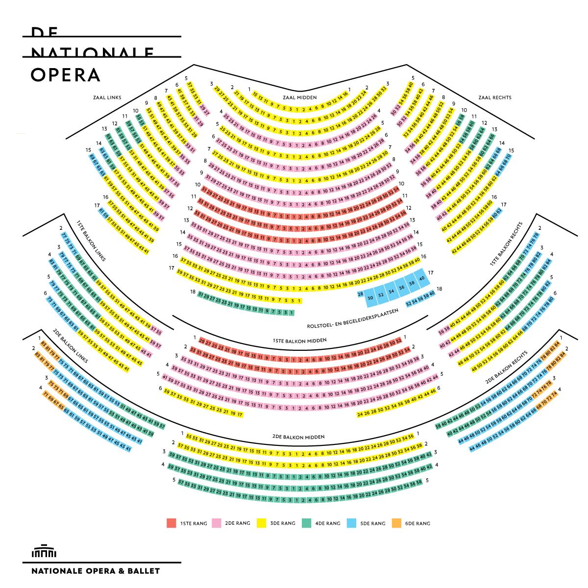 Схема зала Голландского национального театра оперы и балета