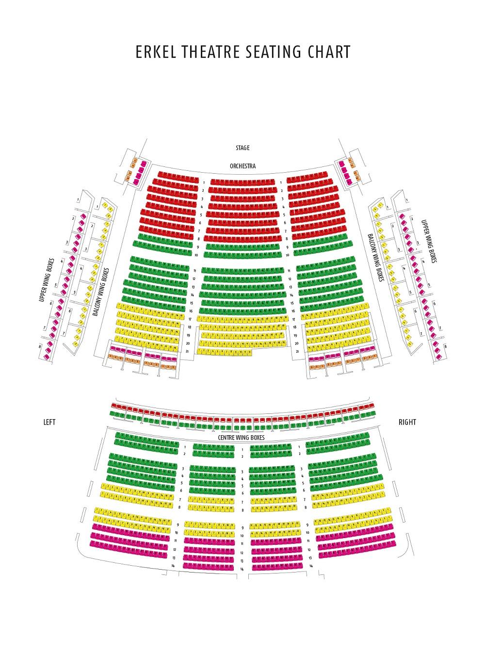 Схема зала Венгерского Государственного оперного театра - Театр Эркеля