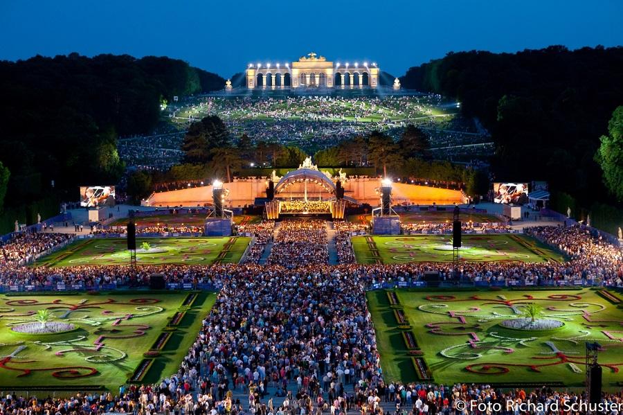 Концерт в парке Шёнбрунн