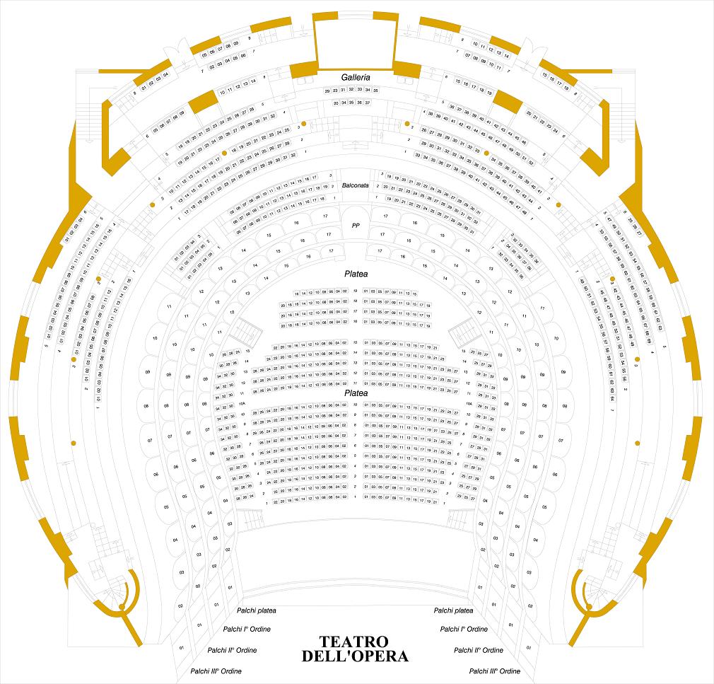 Схема зала Римского оперного театра