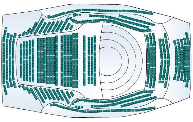 Фестиваль Звезды белых ночей. Схема концертного зала Мариинского театра