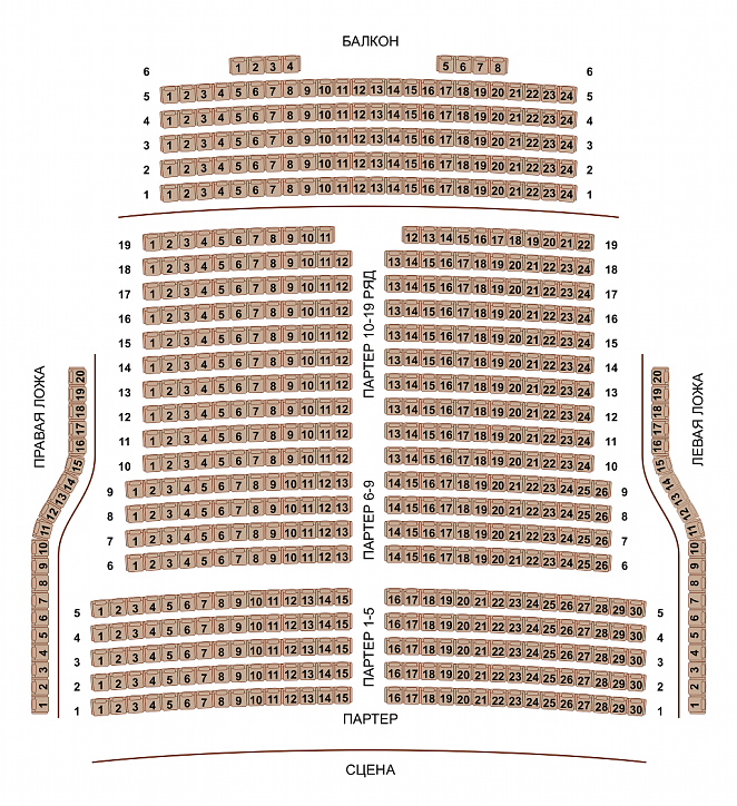 Новая Опера имени Колобова - схема зала