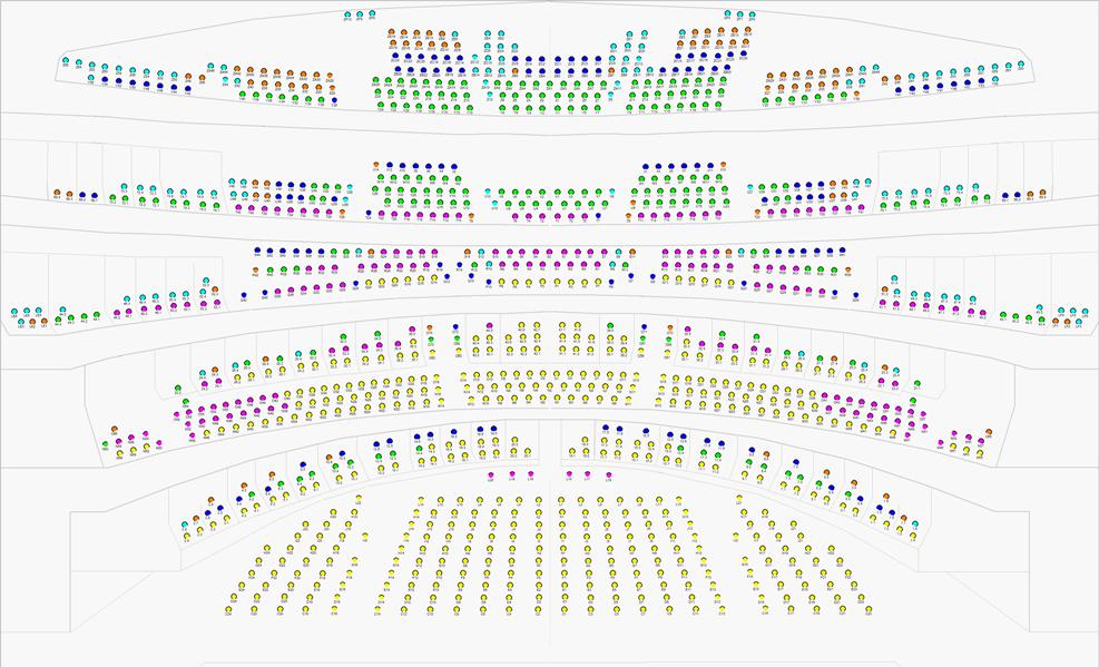Схема зала Оперы комик