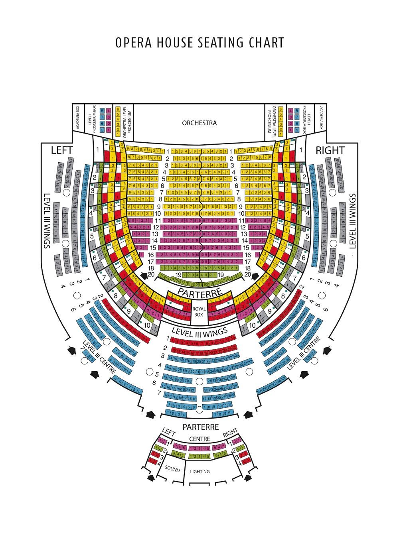 Схема зала Венгерского Государственного оперного театра