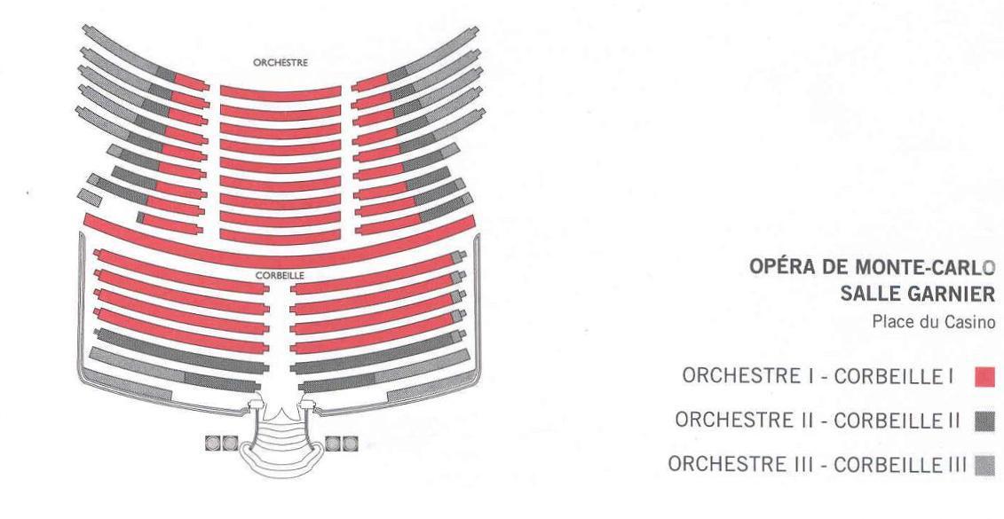 Схемы залов Оперы Монте-Карло - Зал Гарнье
