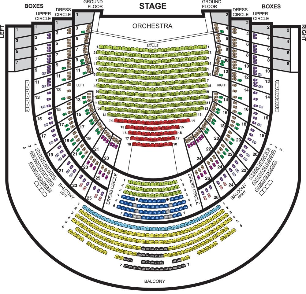 Схема зала Пражской государственной оперы / Statni divadlo v Praze