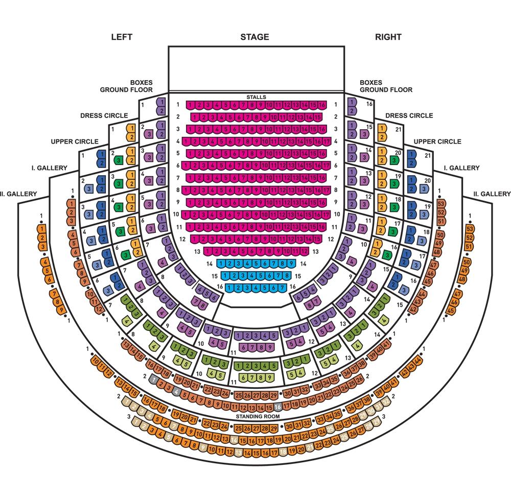Схема зала Сословного театра
