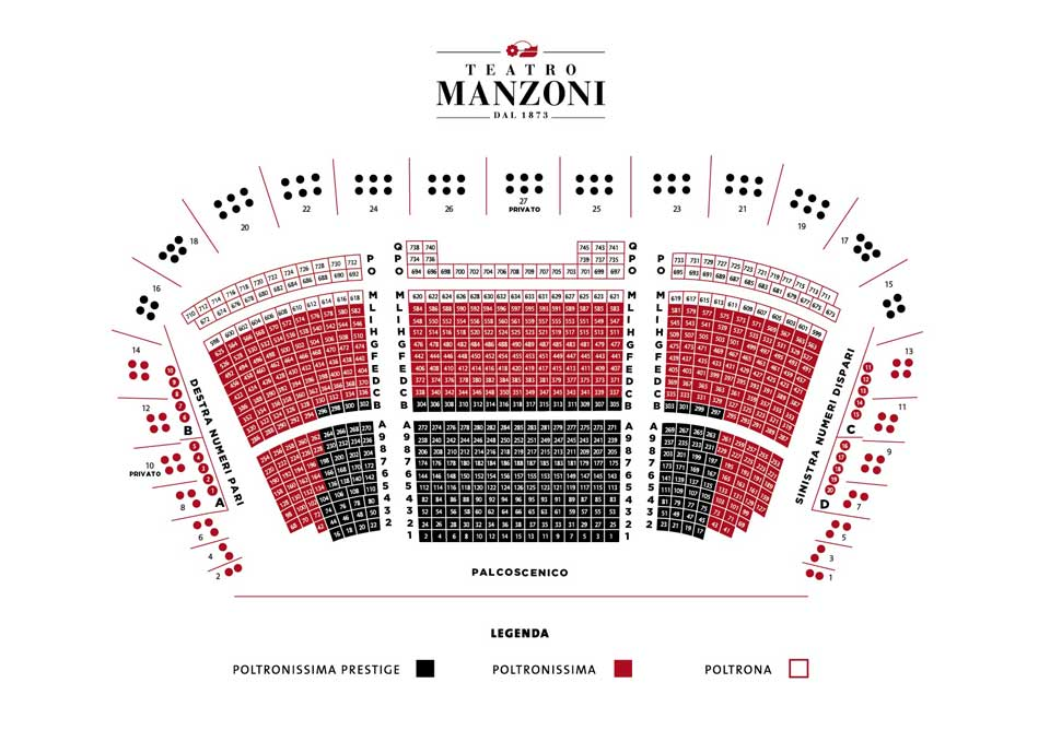 Схема зала Флорентийской оперы - Музыкальный май - театр Манцони