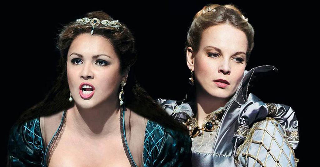 Анна Нетребко и Элина Гаранча в опере Гаэтано Доницетти «Анна Болейн», Венская опера