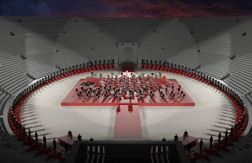 Схема зала Арена ди Верона 2020
