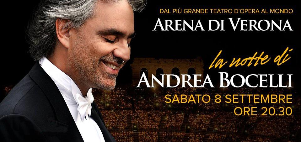 Концерт Андреа Бочелли в Арена ди Верона