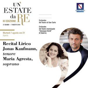 Йонас Кауфман и Мария Агреста, концерт в Королевском дворце в Казерте