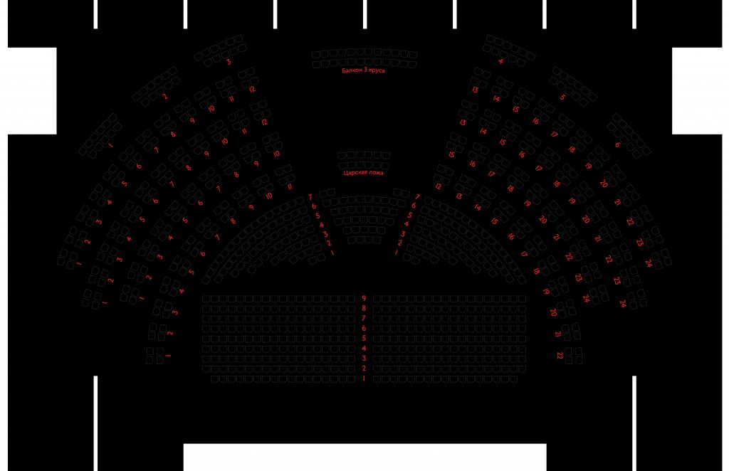 Схема зала Александринского театра